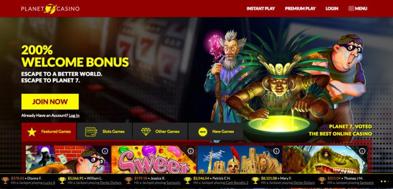 Planet7 No Deposit Casino