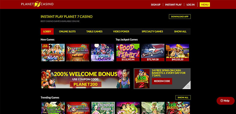 planet 7 casino instant play